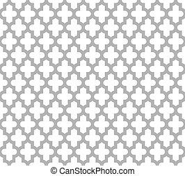 Moroccan Islamic Seamless Pattern Background In Grey And White Vintage Retro Abstract Ornamental Design