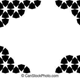 moroccan mosaic template - Black moroccan zellige mosaic...