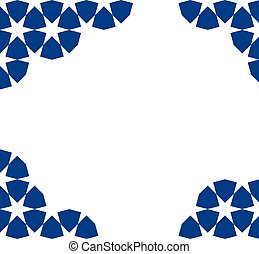 moroccan mosaic template - blue moroccan zellige mosaic...