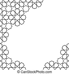 moroccan mosaic template - white and black moroccan zellige...