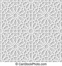 moroccan paper seamless pattern with geometric  texture.