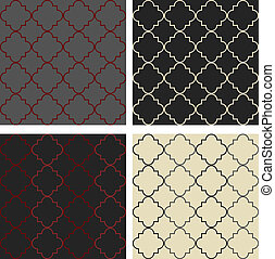 Moroccan pattern - 4 Moroccan style seamless patterns