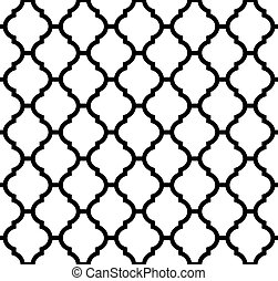 moroccan seamless pattern in black and white
