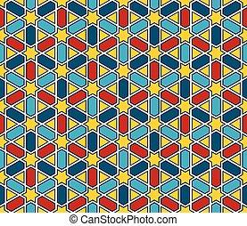 Moroccan style mosaic pattern