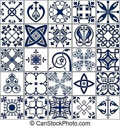 Moroccan tiles Seamless Pattern