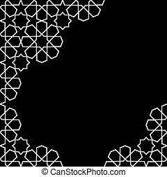 moroccan zellige template - white and black moroccan zellige...