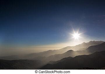 morocco atlas mountains - view of the atlas mountains at ...