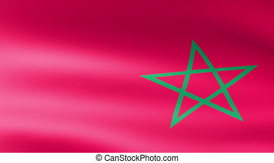 Morocco Flag Waving
