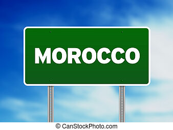 Morocco Highway Sign