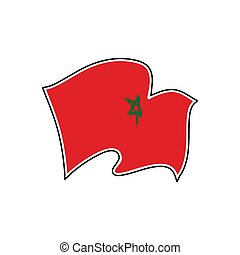 Morocco national flag. Vector illustration. Rabat