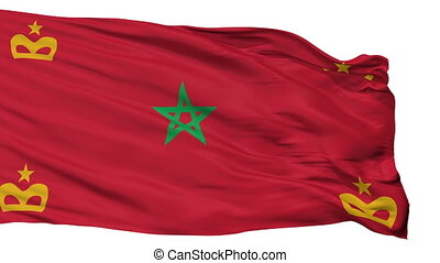 Morocco Naval Ensign Flag Isolated Seamless Loop - Naval...