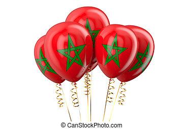 Morocco patriotic balloons
