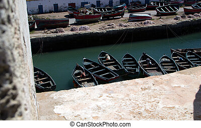 Morocco Port with small boats