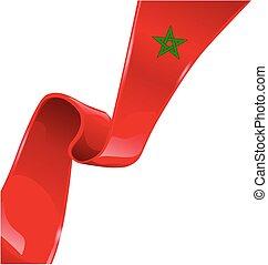 morocco ribbon flag