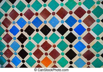 Morocco Seamless Border. Traditional Islamic Design