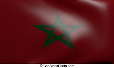 morocco strong wind flag