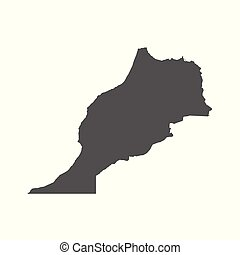 Morocco vector map. Black icon on white background.