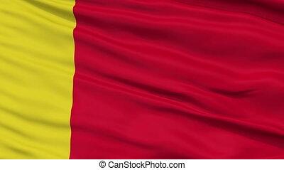 Moroni City Close Up Waving Flag