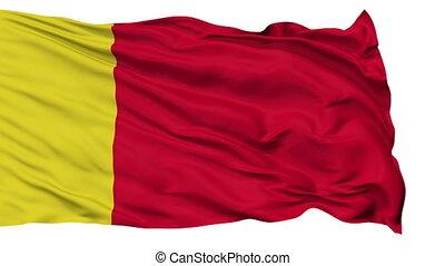 Moroni City Isolated Waving Flag