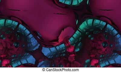 morphed purple complex structures