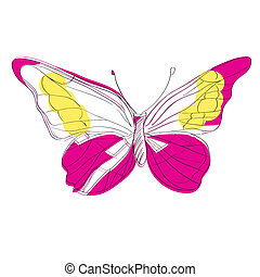 morpho helena - Hand drawn illustration of a butterfly from...