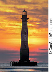 Morris Island Lighthouse Dawn - Photographed from Folly ...