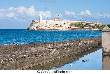 Morro fortress in Havana Bay. Cuba