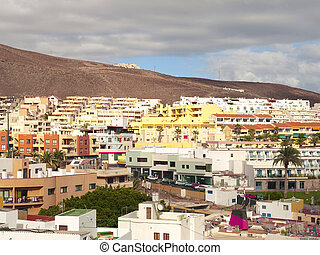 Morro Jable Town - Morro jable old town with the typical...