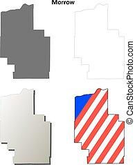 Morrow County, Oregon outline map set - Morrow County,...