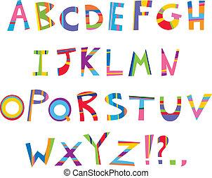 morskab, alfabet