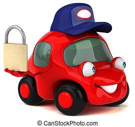 morskab, automobilen, -, illustration, 3