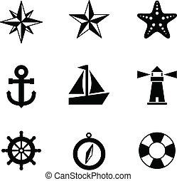 morski, ikony