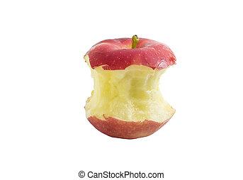 morso, mela rossa