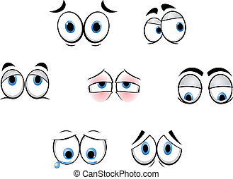 morsom, øjne, cartoon