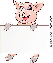 morsom, blank, gris, cartoon, tegn