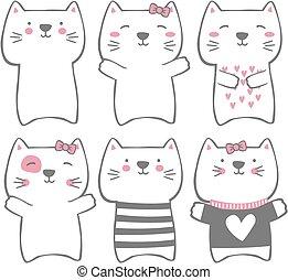 morsom, moderne, katte, cute