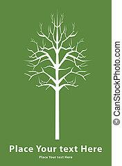 mort, arbre, signe