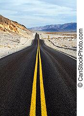 mort, parc national, par, vallée, route