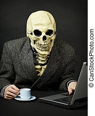 mort, promenades, internet