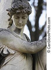 mort, statue