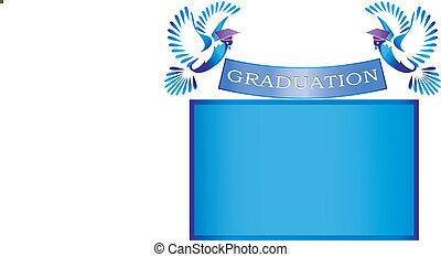 mortai, bandiera, colombe, graduazione
