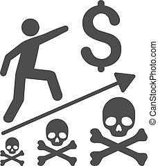 mortal, apartamento, negócio, realização, ícone