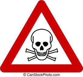 mortale, simbolo di avvertenza, pericolo