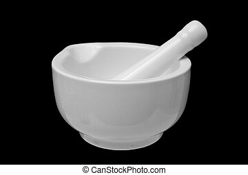 Mortar and Pestle isolated