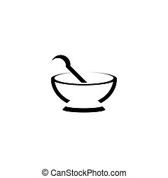 mortar and pestle stylized logo icon