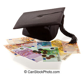 Mortar Board and the euro. Education costs in Europe. -...