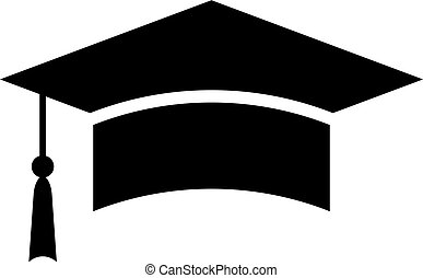 Mortar board cap vector icon