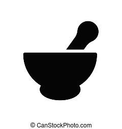 mortar  glyph flat icon