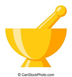 Mortar Pestle Vector Icon - Mortar and pestle, vector icon...