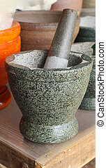 Mortar used for making sauces